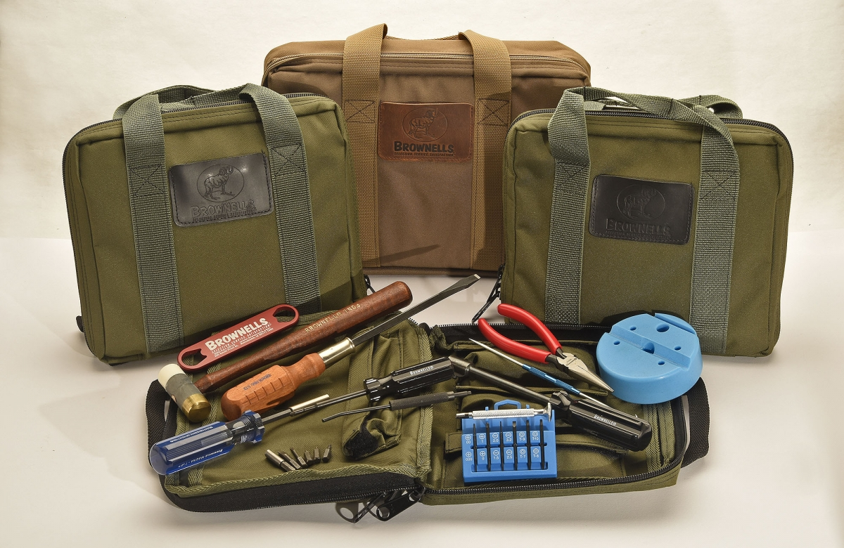 The Brownells Maintenance Field Packs are ready-to-go armorers' kits conceived for intensive use