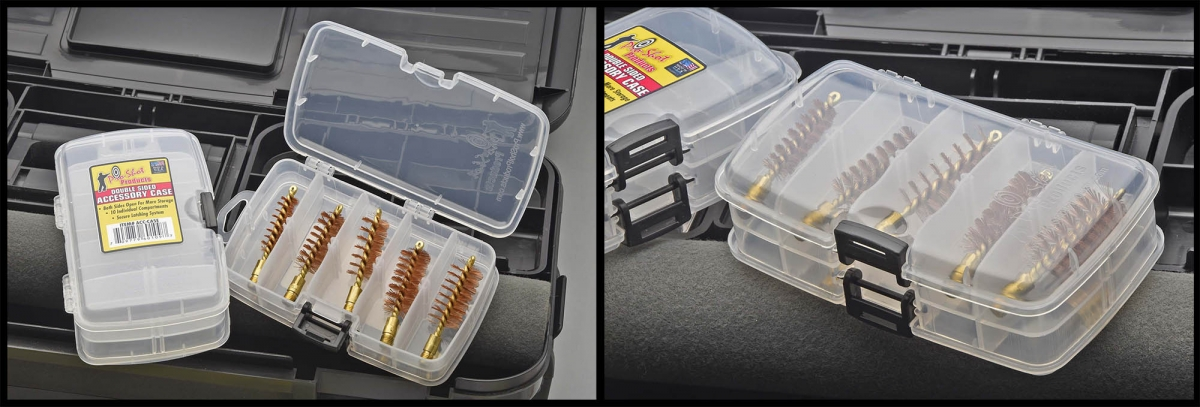 The new Dual Sided Accessory Case for bore brushes, mops, and jags