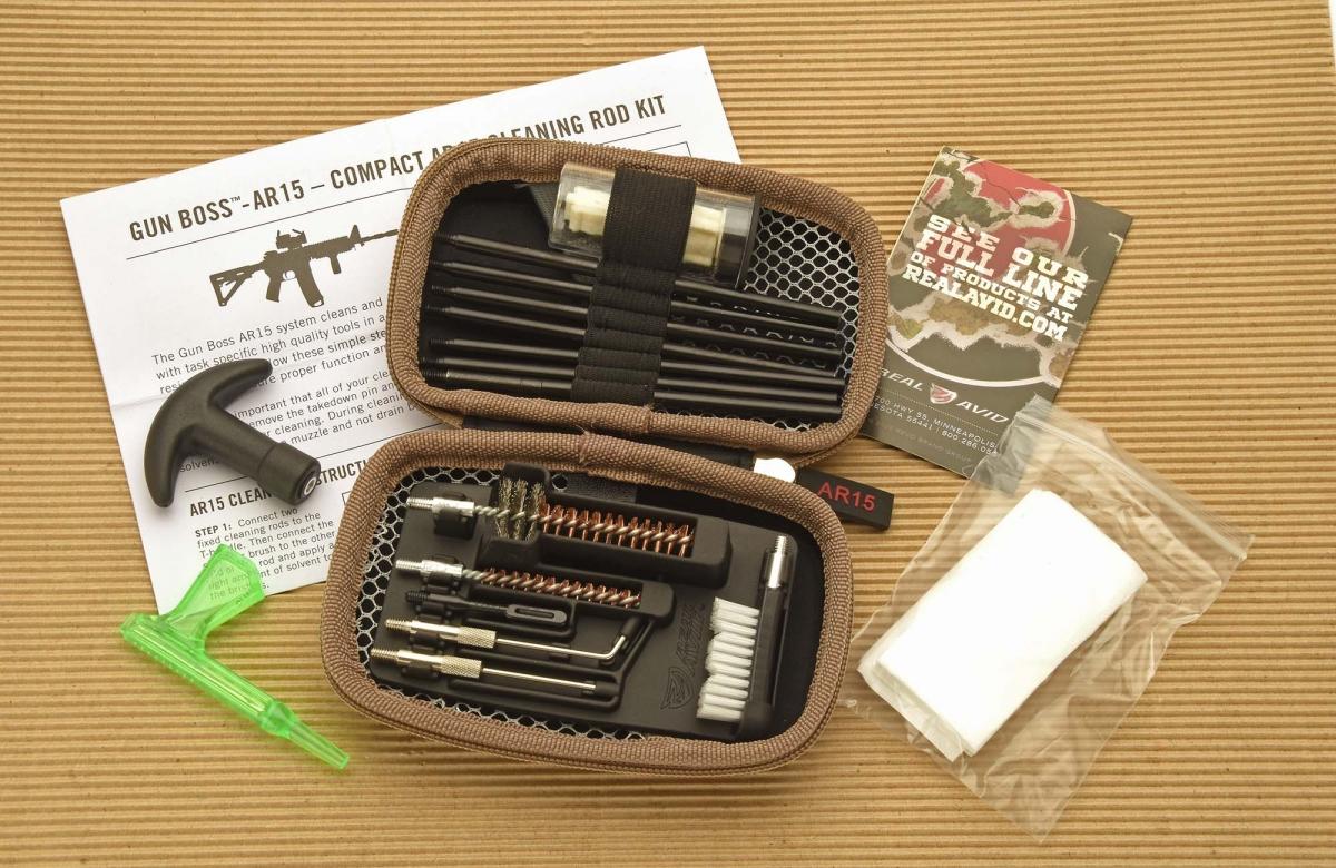 Gun Boss AR-15 cleaning kit for Black Rifles
