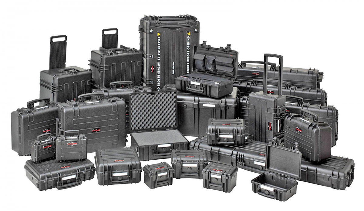 Explorer Cases: a full line of waterproof, watertight and fully military-certified molded synthetic cases for firearms and other high-technology equipment.