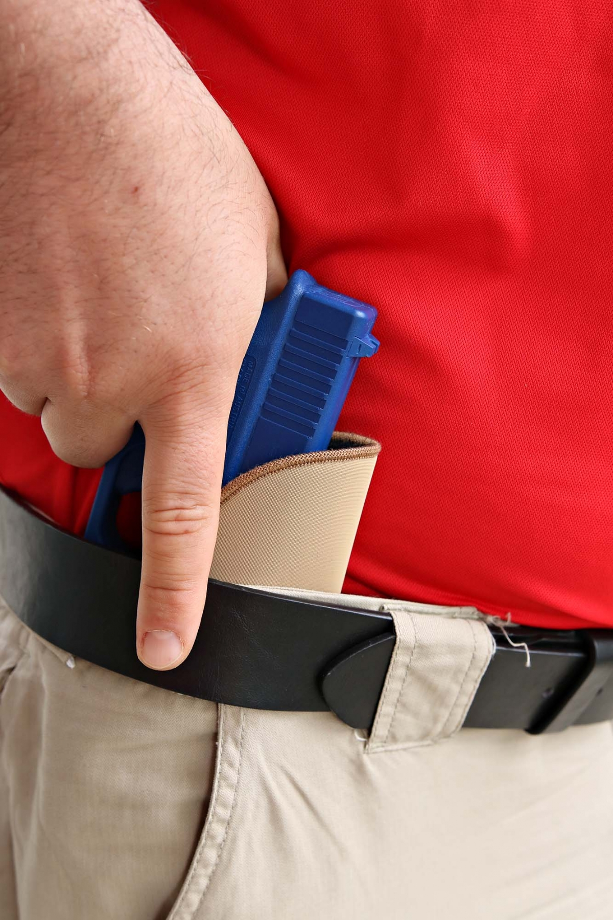 The BLACKHAWK! TecGrip IWB holster outer layer holds tightly to almost any material, keeping your firearm firmly holstered