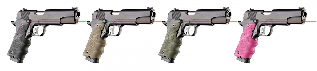 The new Hogue Laser Enhanced grips for 1911 pistols