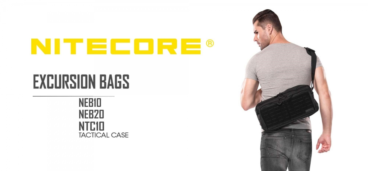 The Nitecore NTC10, NEB10 and NEB20 bags are dedicated to tactical, utility and outdoor use