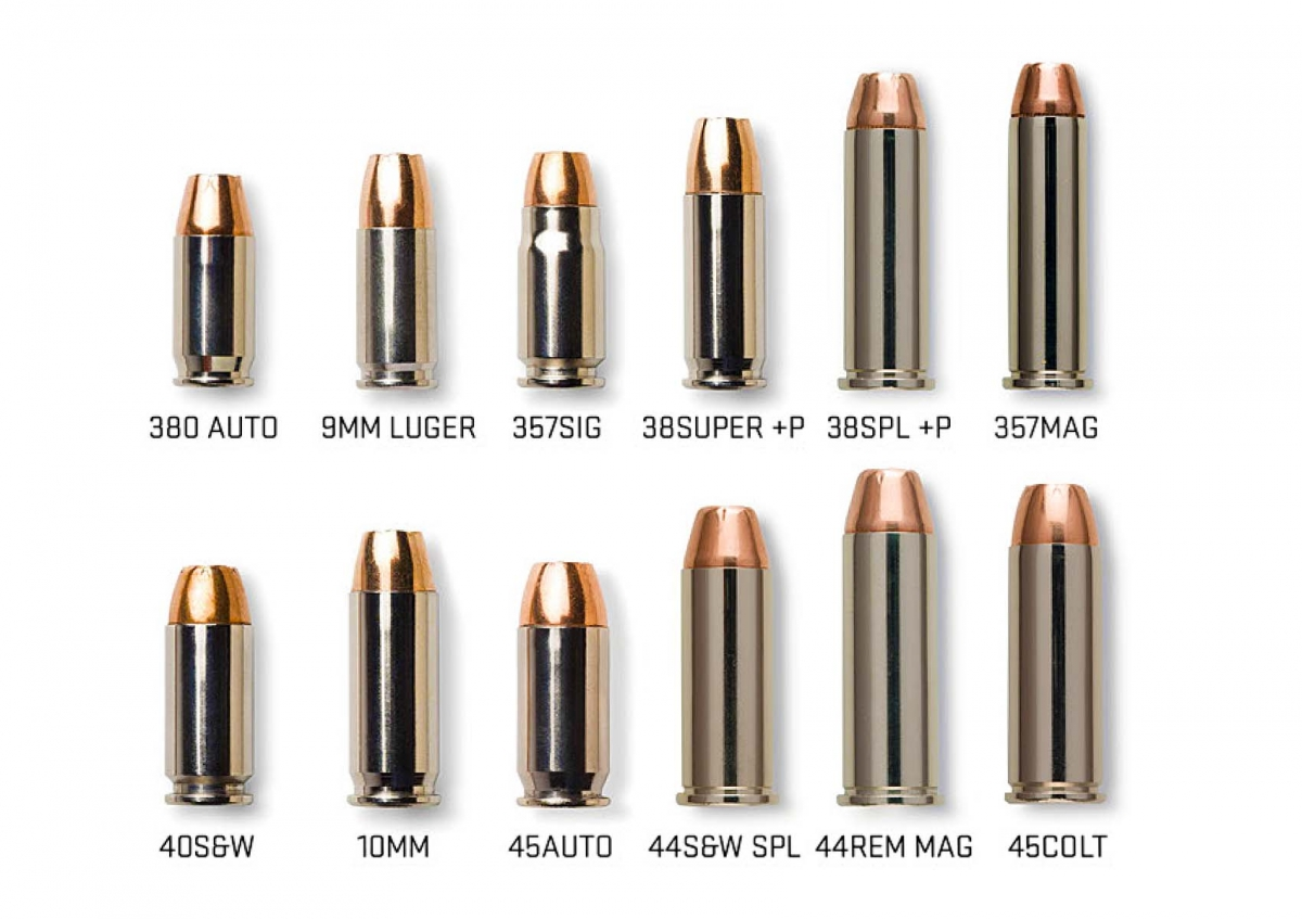 A selection of available pistol calibers in the Elite Performance ammunition line