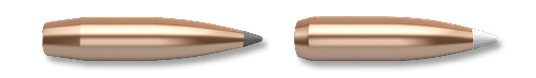 Le palle Accubond da 180 e 210 grani usate nei caricamenti Nosler Trophy Grade, ma disponibili anche sfuse per la ricarica casalinga