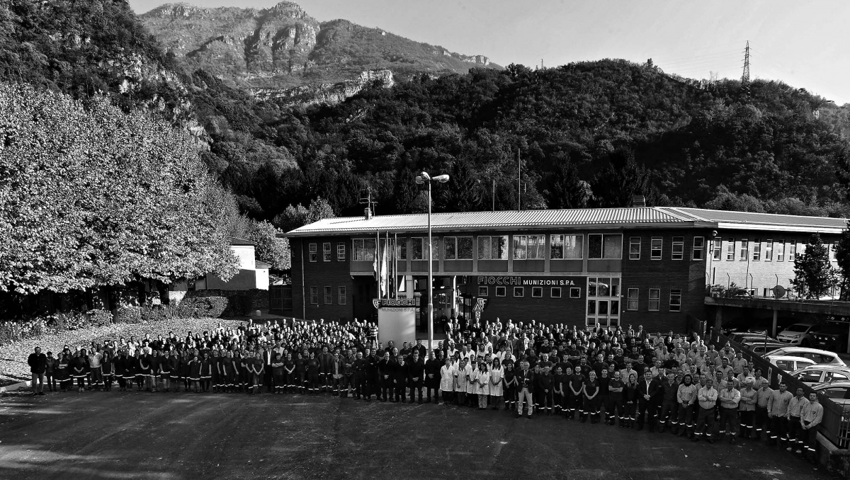 The company's history is made of people: here, the current employees at the Italian headquarter in Lecco