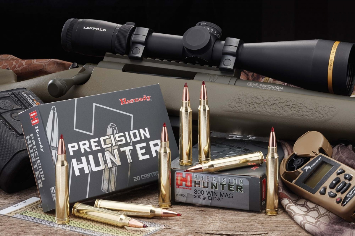 The new Hornady Precision Hunter ammunition feature the new ELD-X™ bullet with the new Heat Shield™ tip. The Precision Hunter cartridge is the ideal load for ANY hunting situation because of its effective terminal performance at ALL practical ranges.