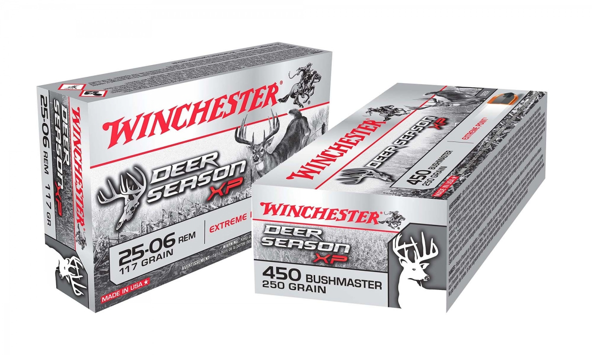 The new Winchester Deer Season XP .25-06 Remington and .450 Bushmaster loads are available in 20-rounds boxes