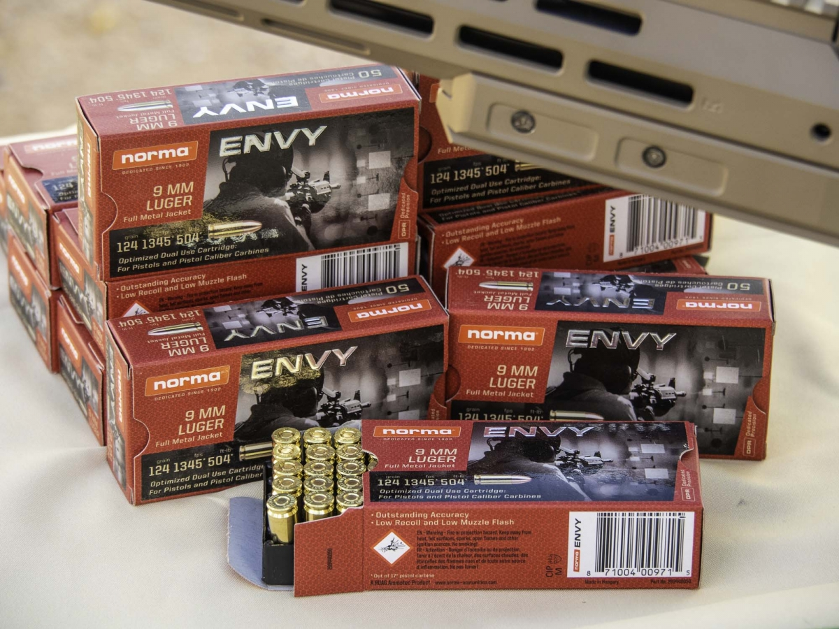 Norma ENVY 9mm pistol caliber carbine ammunition