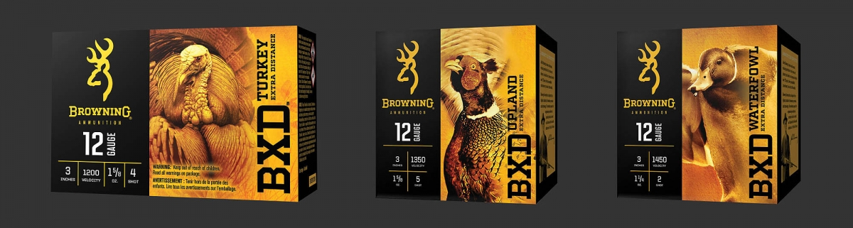 The Browning BXD Turkey, Upland and Waterfowl hunting shotshells