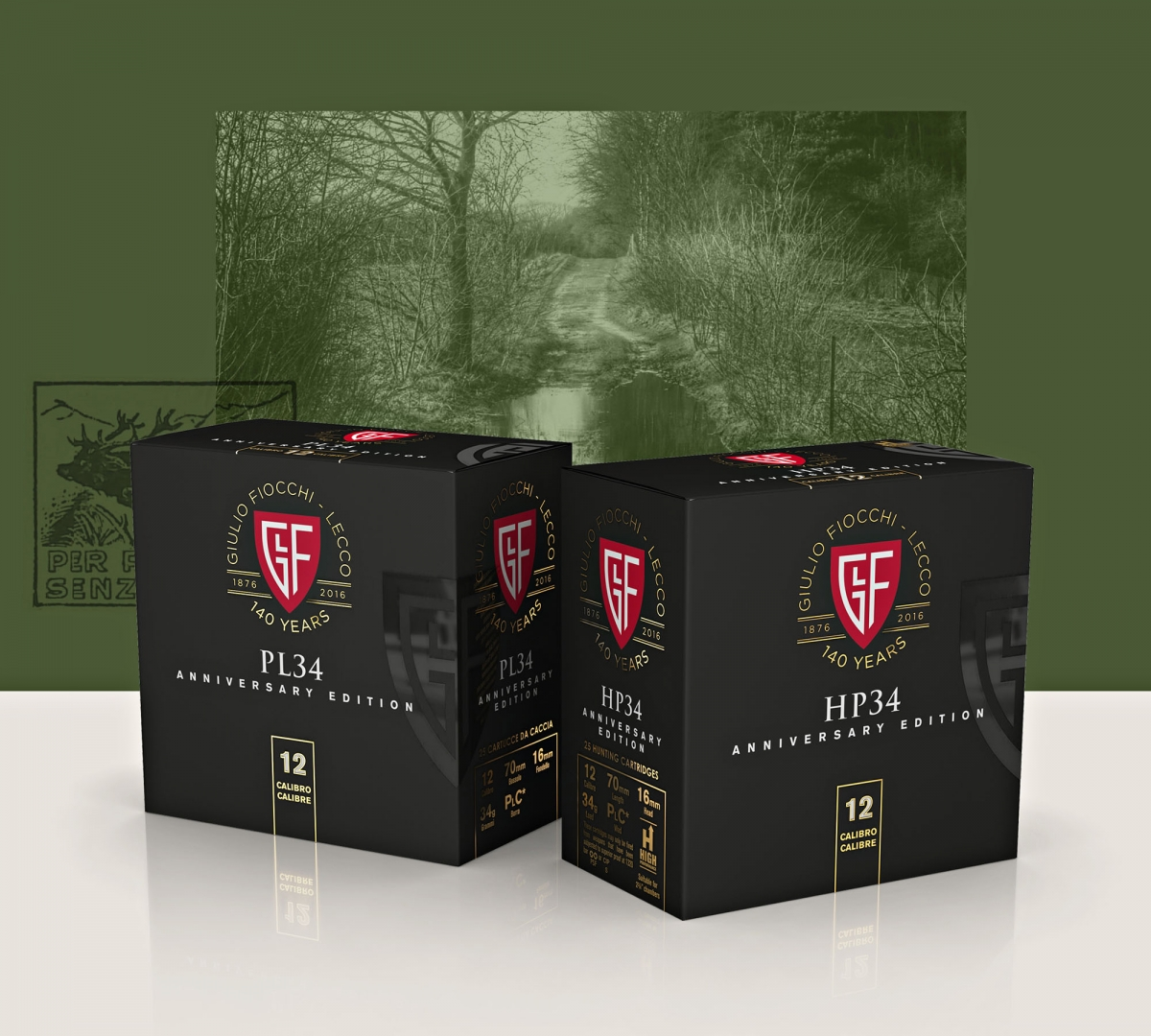 Cartucce Fiocchi PL28 e HP34 in confezione speciale per l'edizione del 140mo Anniversario