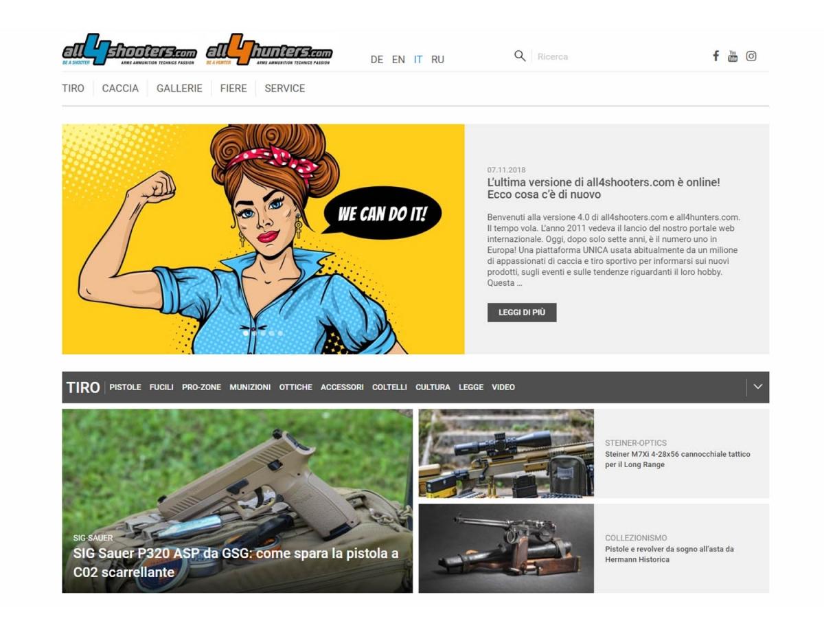 Il sito tedesco all4shooters.com si rifà il look!