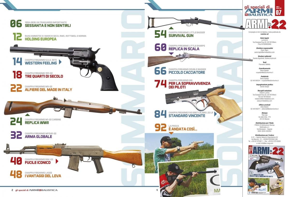ARMI & BALISTICA / Sommario Speciale Armi calibro .22