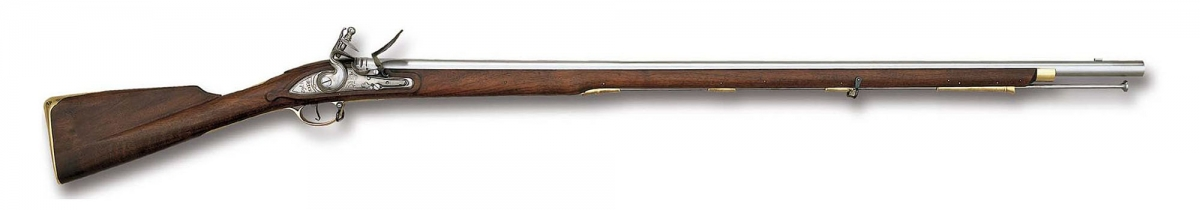 La replica Pedersoli del fucile ad avancarica Brown Bess, in dotazione alla fanteria inglese durante le Guerre Napoleoniche