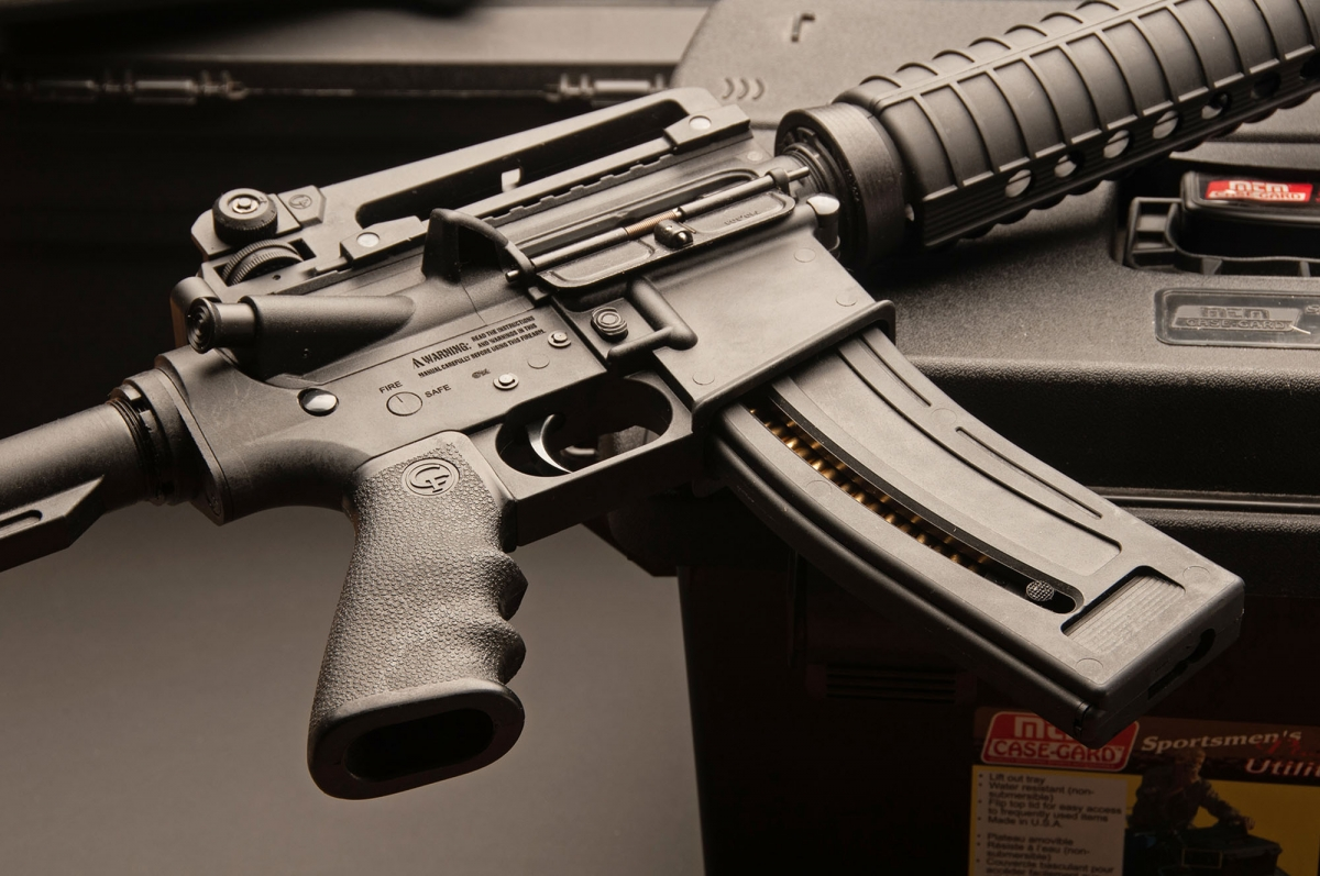 "Chiappa Firearms M-four sport replica in .22 caliber: an example of the ""Assault Weapons"" that Canada has banned"