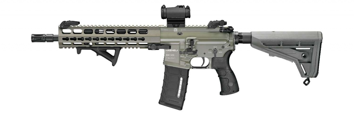 Another Country chooses an AR platform as its next service rifle: Germany ditches the Heckler & Koch G36 in favor of the MK 556, a piston-driven platform manufactured by the Defence division of C.G. Haenel of Thuringia!