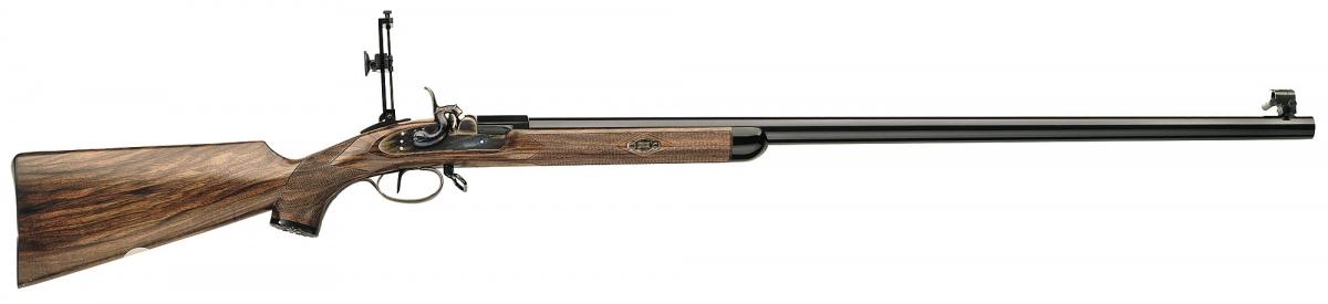 Fucile monocolpo ad avancarica (a polvere nera) Pedersoli Gibbs, calibro .451, per il tiro di precisione fino a 1.000 metri