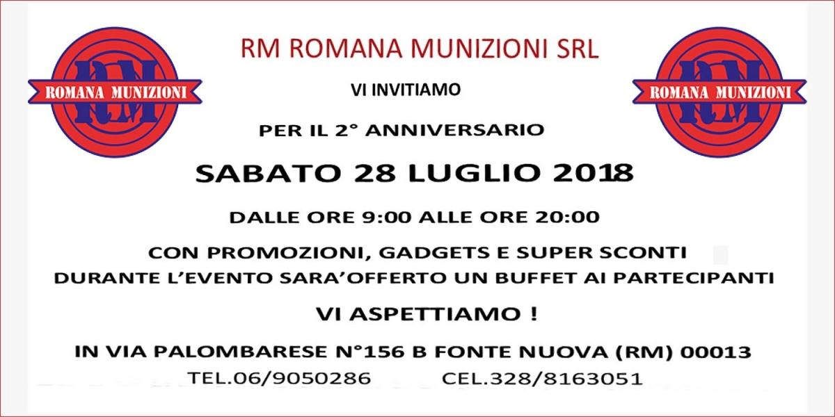 Romana Munizioni celebra il secondo anniversario