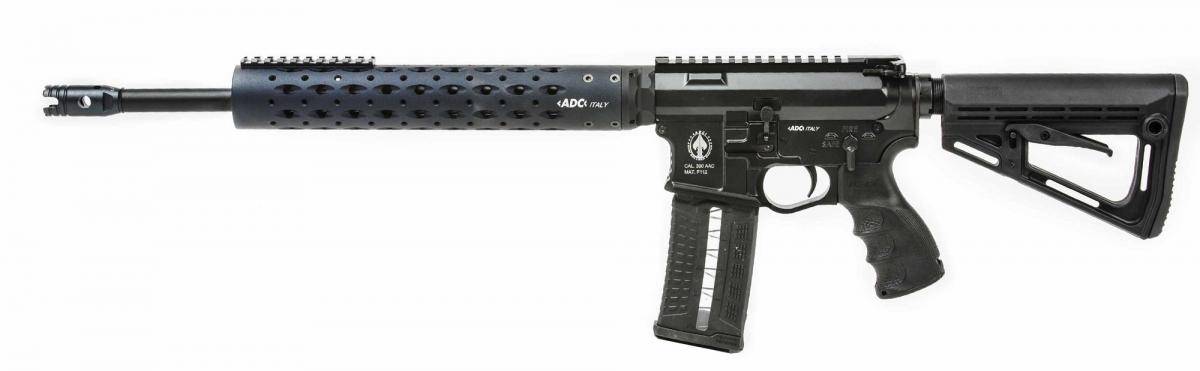 """Il primo premio: fucile semi-automatico ADC """"Spartan"""" calibro .223 Remington"""
