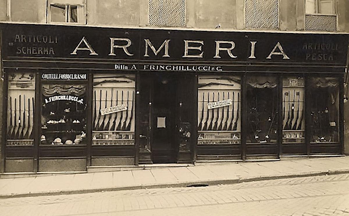 Armeria Frinchilluci, a Roma, in una foto degli anni trenta del secolo scorso