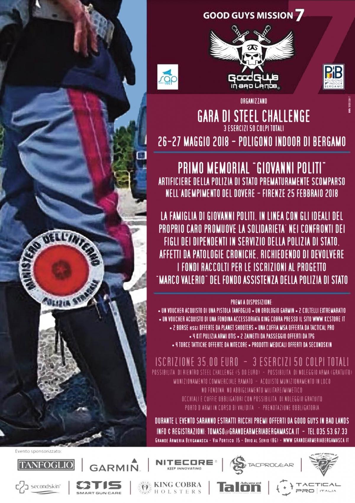 """Gara di Steel Challenge per il Memorial """"Giovanni Politi"""""""