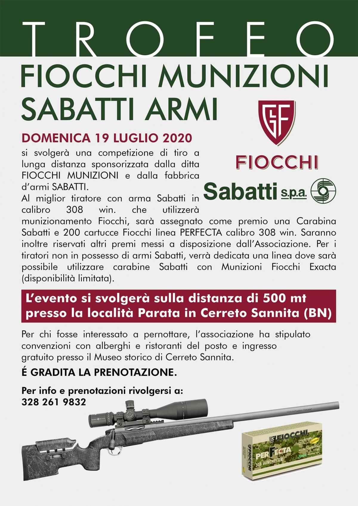 Trofeo Fiocchi-Sabatti 2020