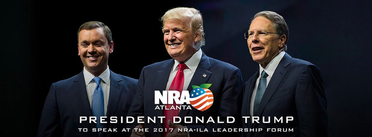 US President Donald Trump will attend the NRA Leadeship Forum