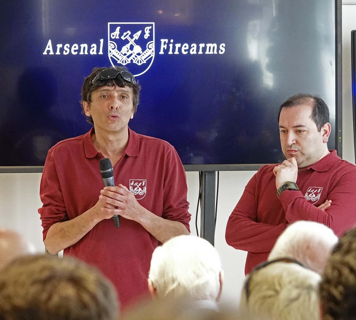 I due docenti della Arsenal Firearms Academy: Mauro Azzimondi e Davide Monorchio