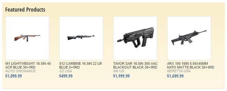 Brownells ora distribuisce anche armi!