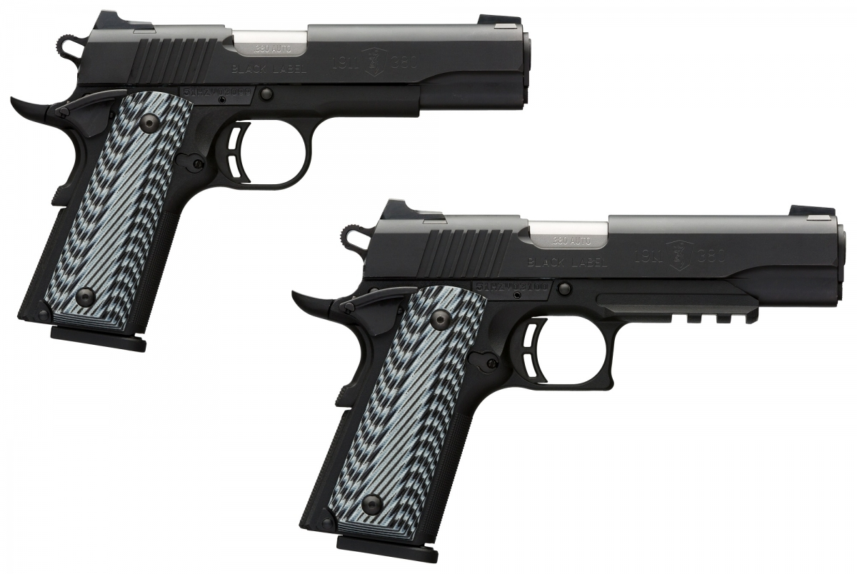 The new Browning 1911-380 Black Label Pro pistols