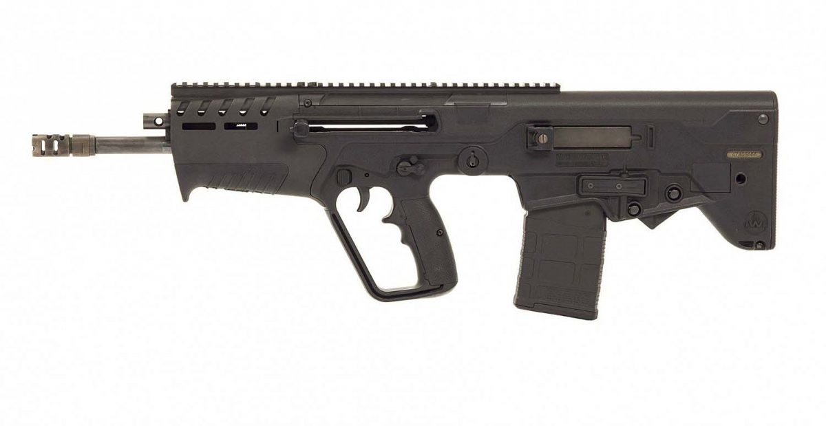 The IWI TAVOR 7 rifle, seen from the left side