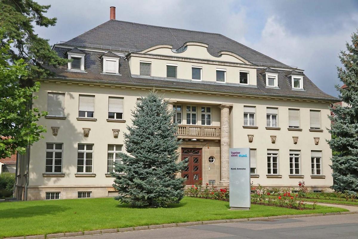 L'edificio direzionale di RUAG Ammotec a Fürth, in Germania