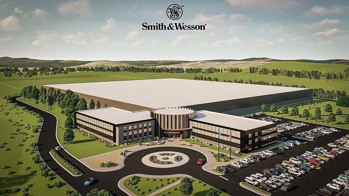 Smith & Wesson released this rendering of what their new headquarters in Maryville, Tennessee will look like – hosting both its industrial AND administrative activities as a whole