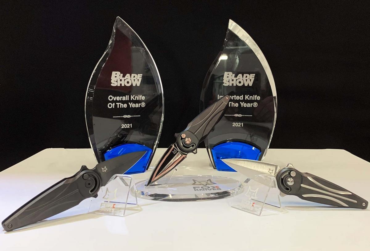 Il prototipo del coltello pieghevole Fox Saturn esce campione dal Blade Show di Atlanta, stravincendo i premi quale miglior coltello dell'anno e miglior coltello importato dell'anno!