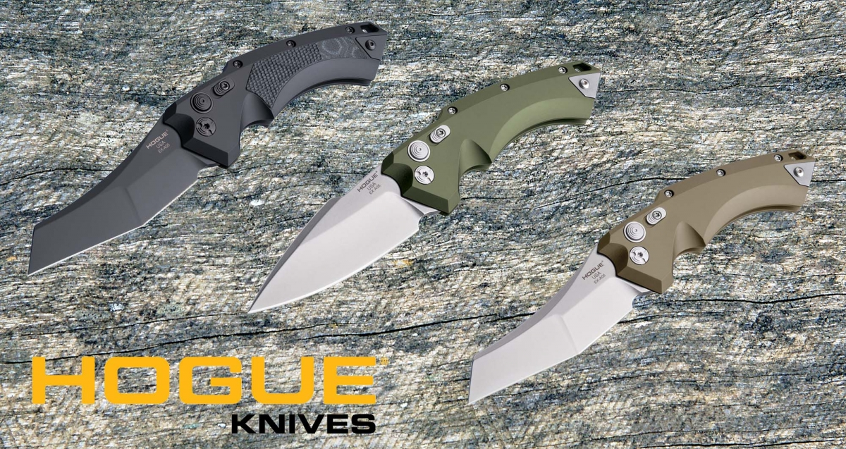 Hogue Knives introduces a new line of automatic knives – the EX-A05 – based on an Allen Elishewitz design