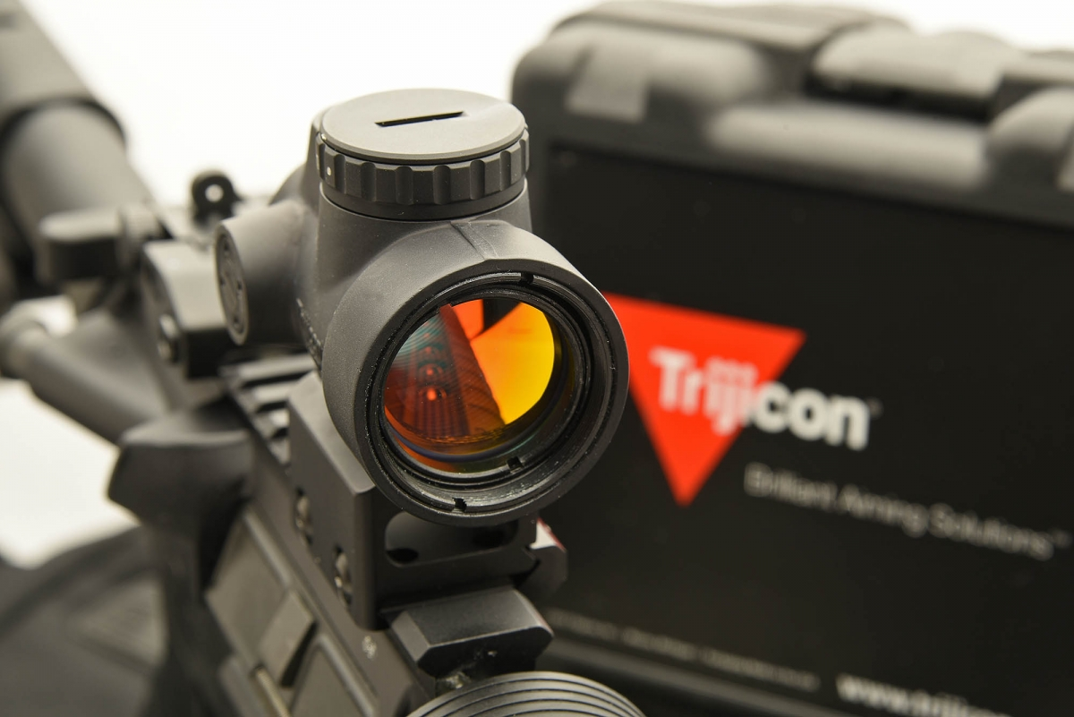 Trijicon's MRO red dot gunsight offers high performance and quality in a small-size, low-weight package