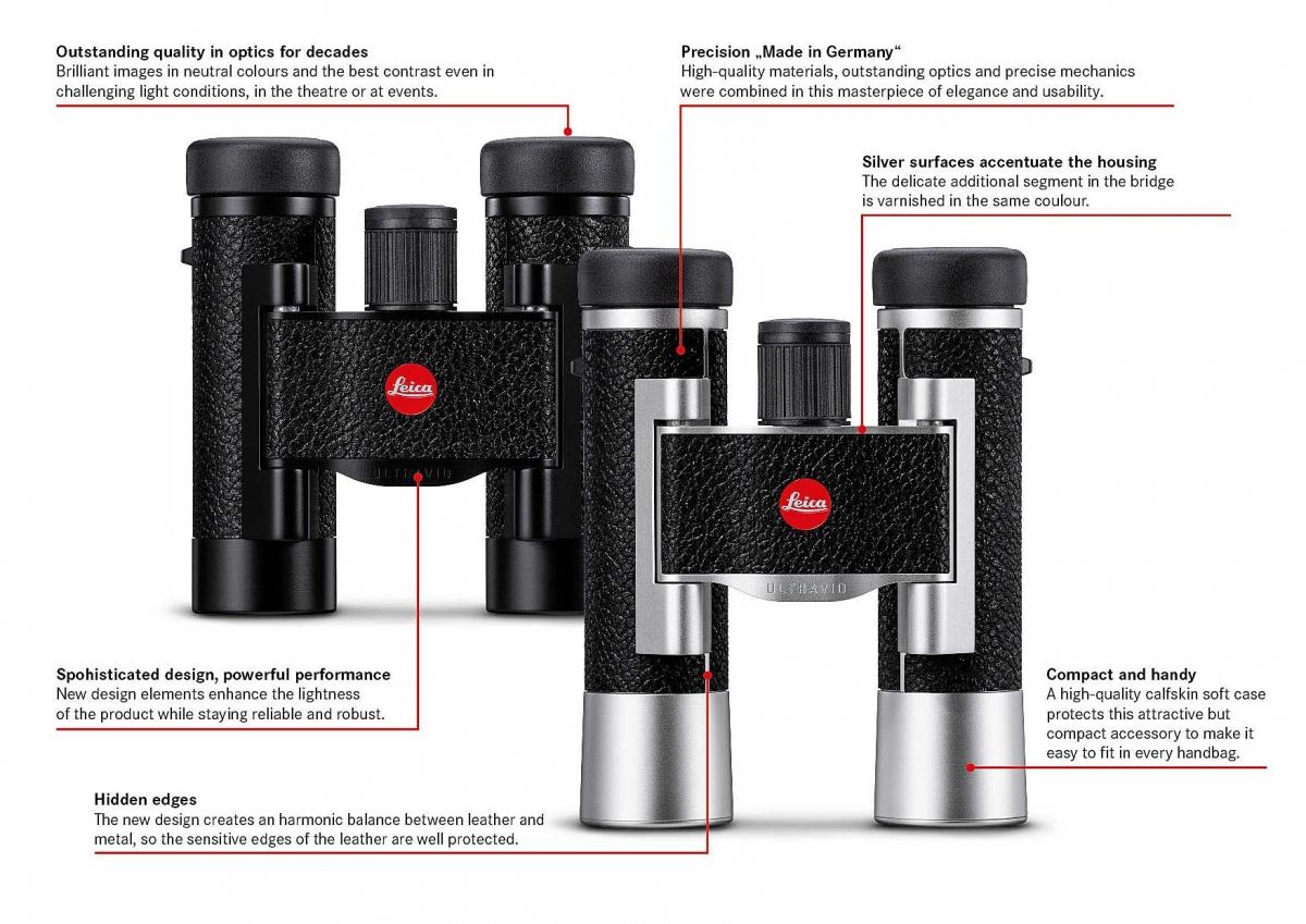 Nuovi binocoli Leica Ultravid 8x20 e 10x25