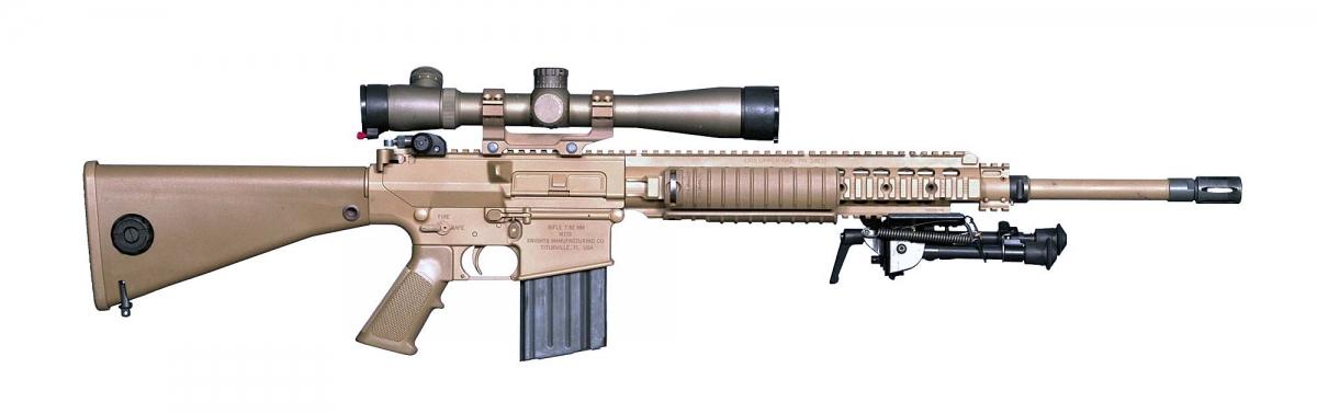 Il fucile M110 SASS (Semi Automatic Sniper System) che impiegherà il cannocchiale Leupold Mark 5HD 3.6-18x44