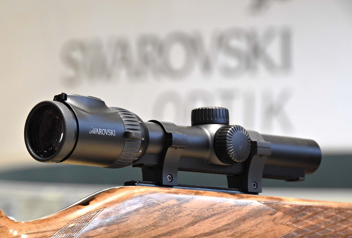 Swarovski's Z8i 2,3-18x56 P riflescope offers high light transmission levels, particularly useful for hunting in low environmental light conditions