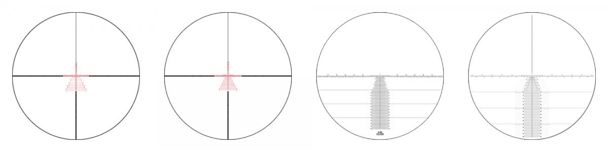4 new reticles: EBR-7C MOA, EBR-7C MRAD, Horus H59, Horus Tremor3