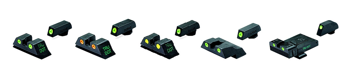 MEPROLIGHT SELF-ILLUMINATED NIGHT SIGHTS for pistols, rifles and shotguns