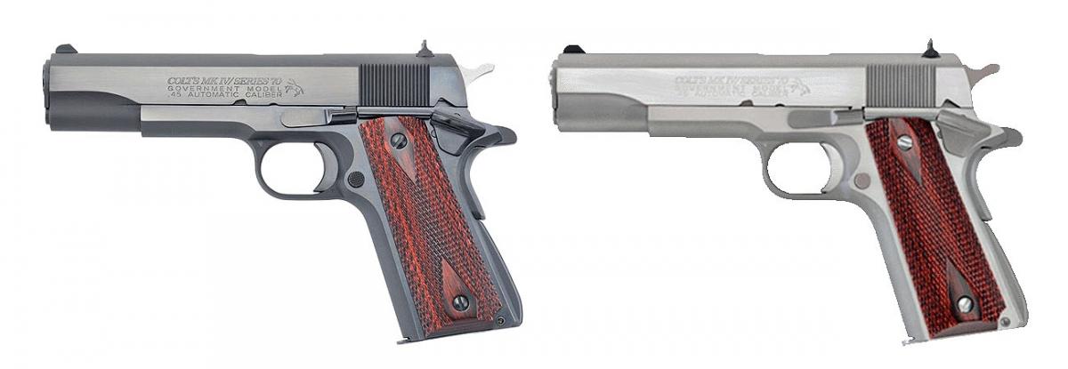 La Colt 1911 Mark IV Series 70 è disponibile con finitura brunita o bianca