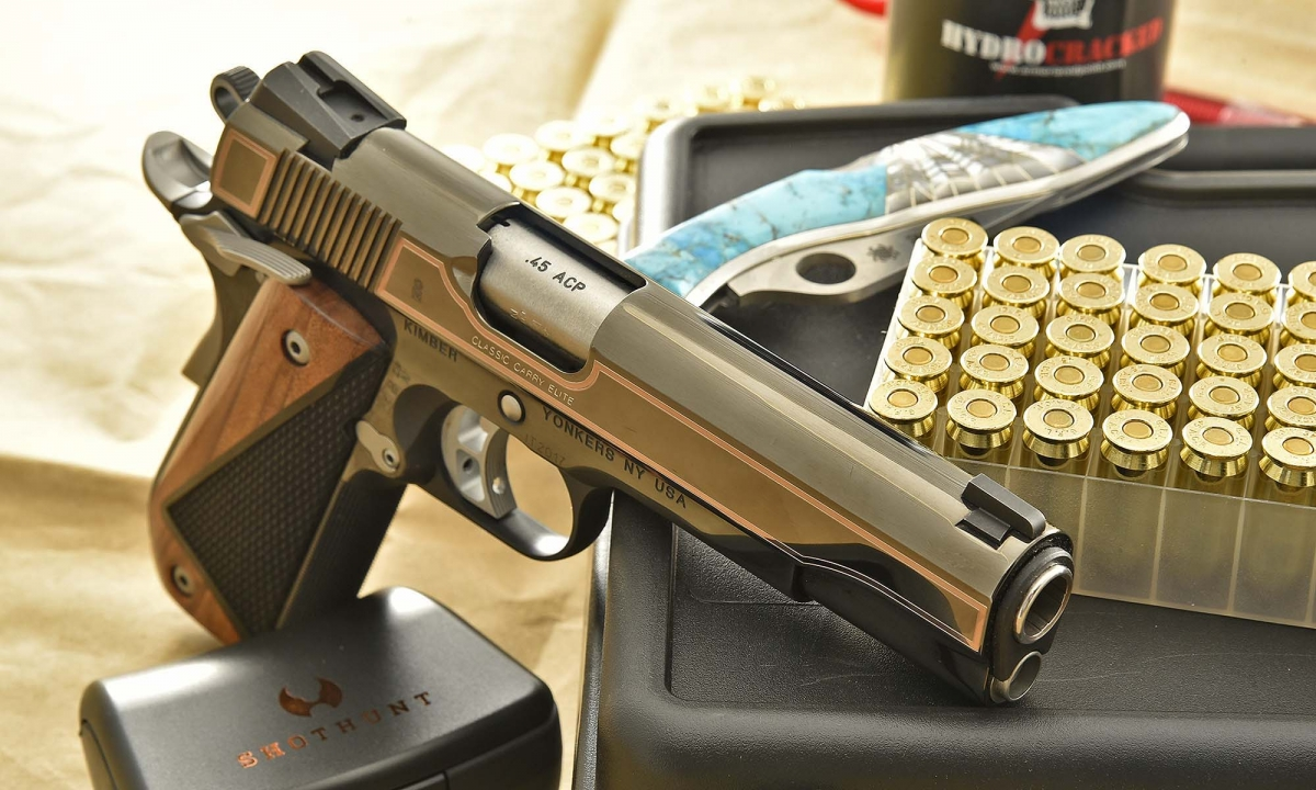 Not an everyman's gun: the Kimber Classic Carry Elite is an object of desire for the discerning collector!