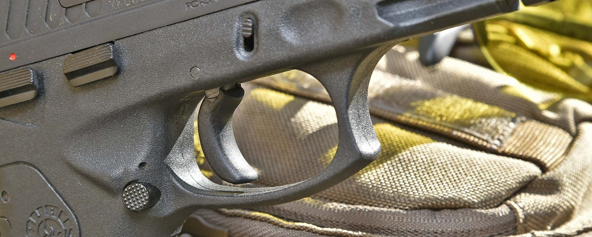 Detail view of the trigger