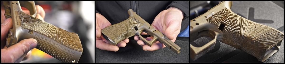 Il fusto originale della Glock 17 è stato personalizzato, su richiesta del cliente