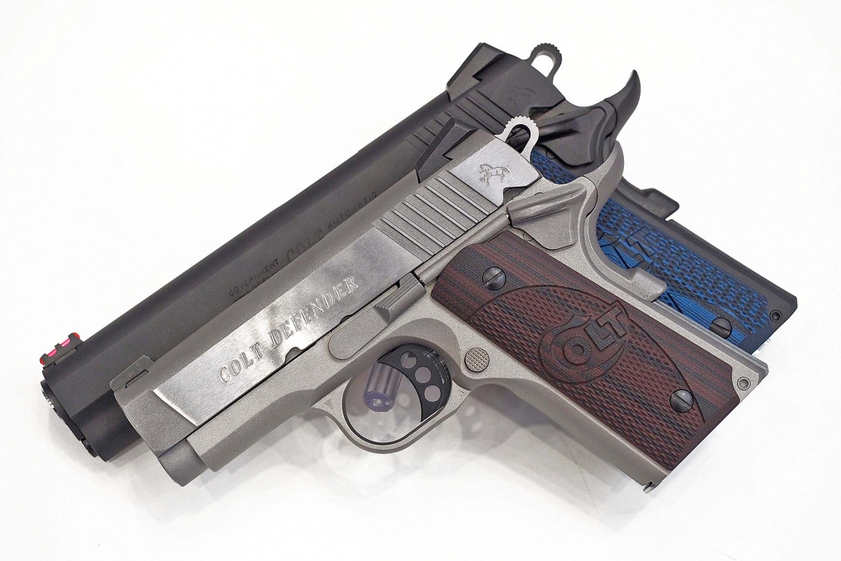 The Colt Defender and Colt Competition pistols