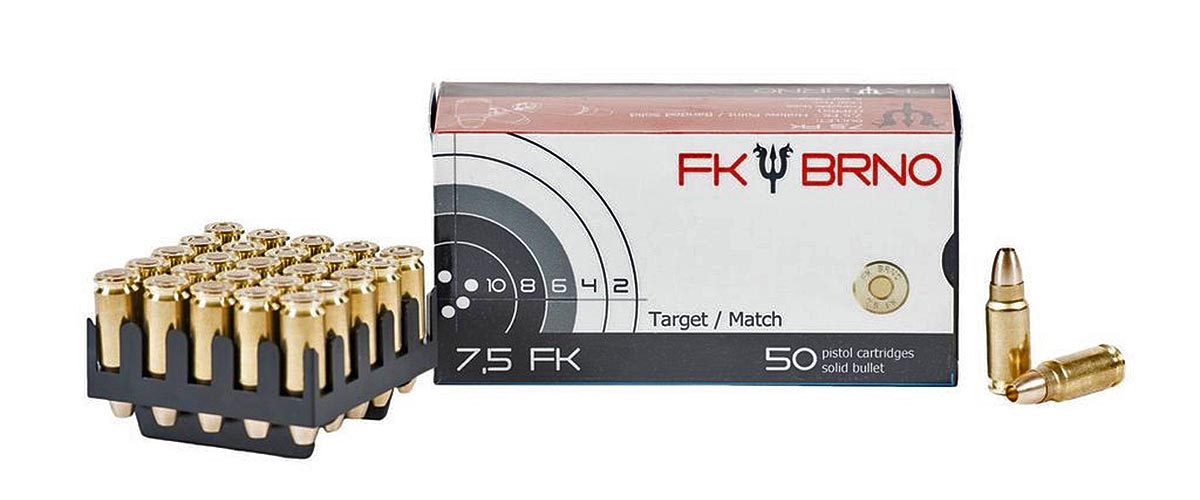 "The 7,5 FK ammunition will be available in three different loads: 95-grains all-copper hollow-point, 98-grains copper alloy hollow-point, or 103-grains spoon-tip (""Spitzer"") copper alloy"
