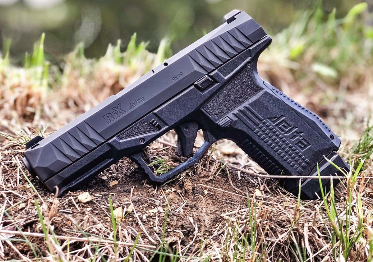 These are the first pictures of the REX Firearms Delta, the new striker-fired pistol from AREX of Slovenia, scheduled to hit the market in 2019