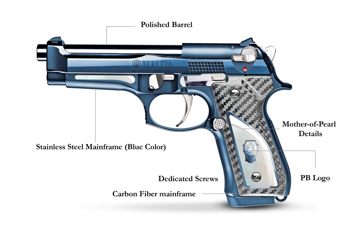Beretta 92FS Fusion Blue - a celebration of the Beretta M92-FS, soon available in limited numbers!
