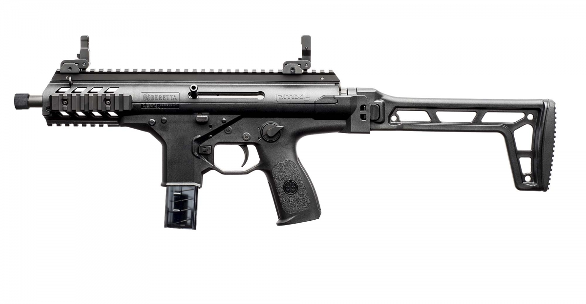 Beretta PMXs semi-automatic pistol-caliber carbine, left side